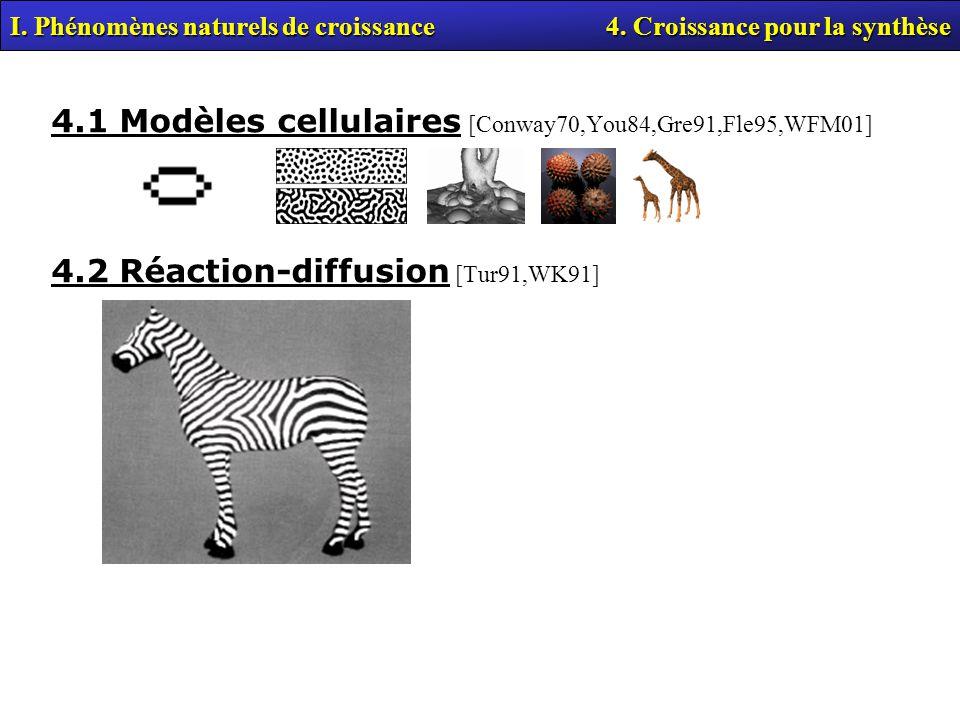 4.1 Modèles cellulaires [Conway70,You84,Gre91,Fle95,WFM01]